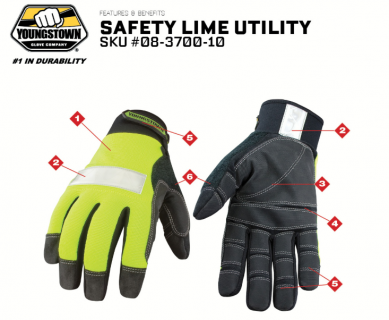 Lime Utility Gloves